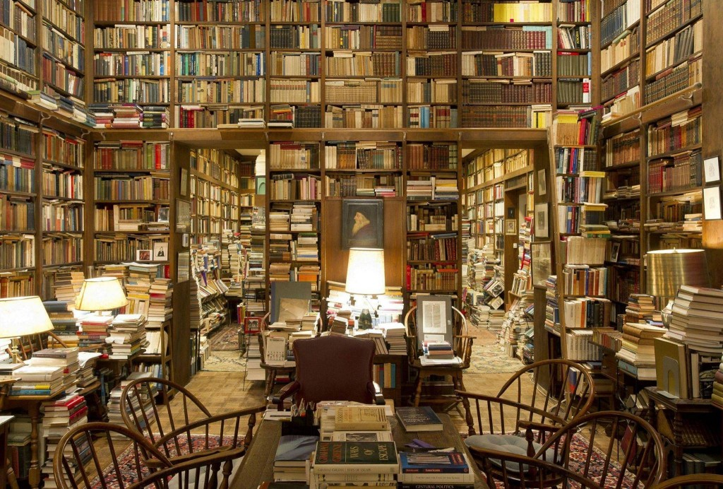 The personal library of retired John Hopkins University Humanities professor Richard A. Macksey, housed in his home in Maryland, USA.